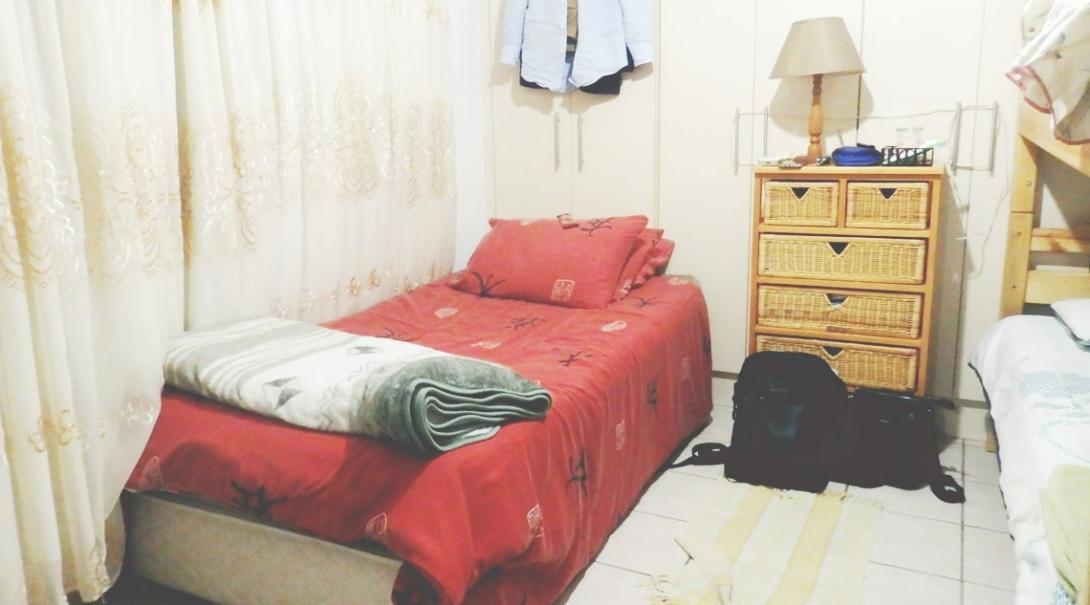 南アフリカ共和国の滞在先の部屋